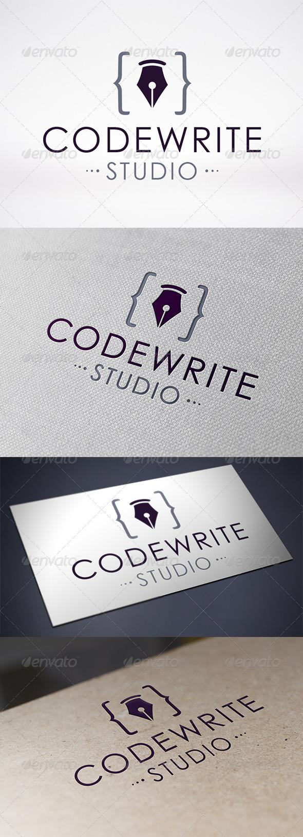 Code Writer Logo Template - Symbols Logo Templates