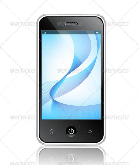 Realistic Mobile Phone - Vectors