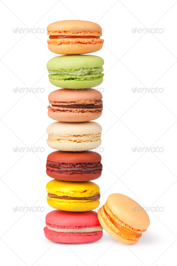Tasty colorful macaroon - Stock Photo - Images
