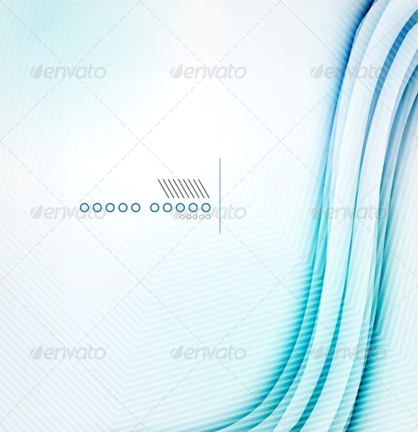 Blue Glowing Abstract Background - Web Technology