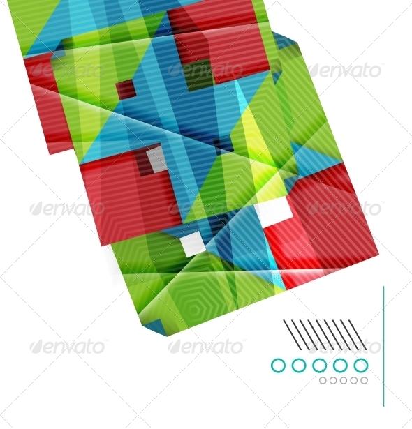 Colorful Geometric Shape Design Template - Backgrounds Decorative