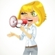 Girl Shouts in a Megaphone - GraphicRiver Item for Sale