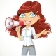 Girl Talking into a Megaphone - GraphicRiver Item for Sale