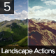 Landscape Actions Set - GraphicRiver Item for Sale