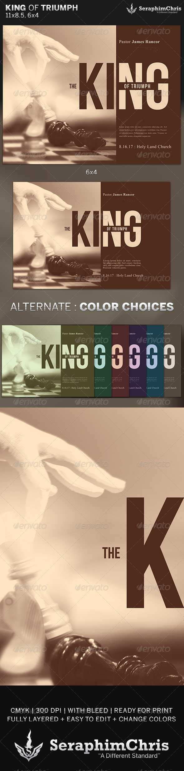 King of Triumph: Church Flyer Template - Church Flyers