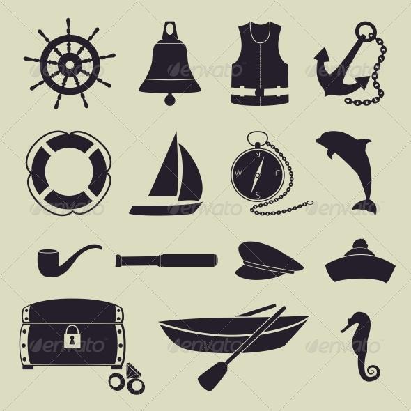 Sea Icons - Travel Conceptual