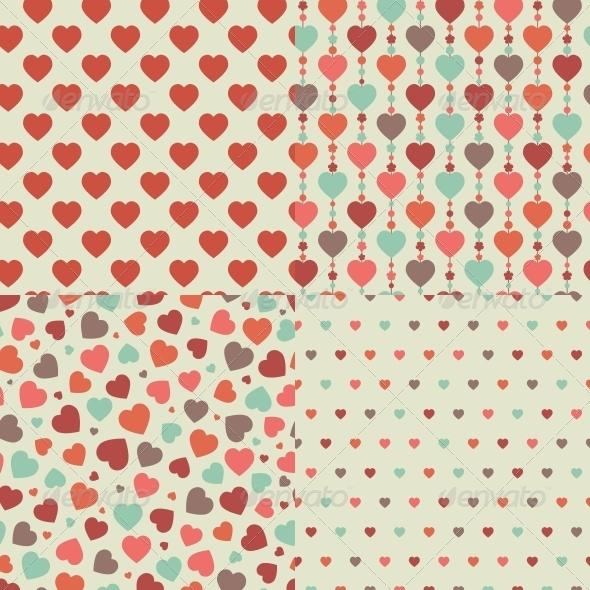 Heart Seamless Pattern - Patterns Decorative
