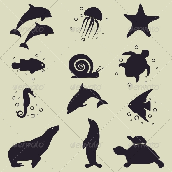 Sea Animals Icons - Miscellaneous Vectors