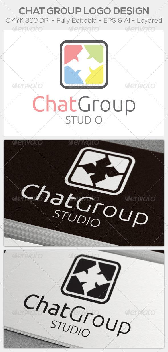 Chat Group Logo - Symbols Logo Templates