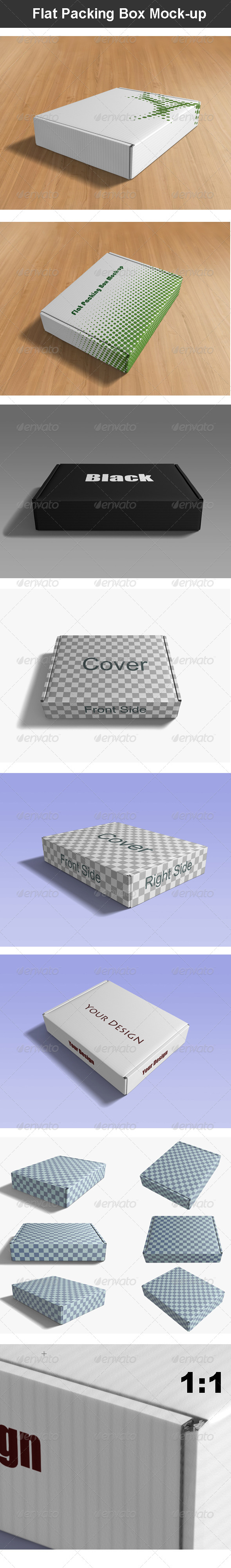 Flat Packing Box Mock-up - Graphics