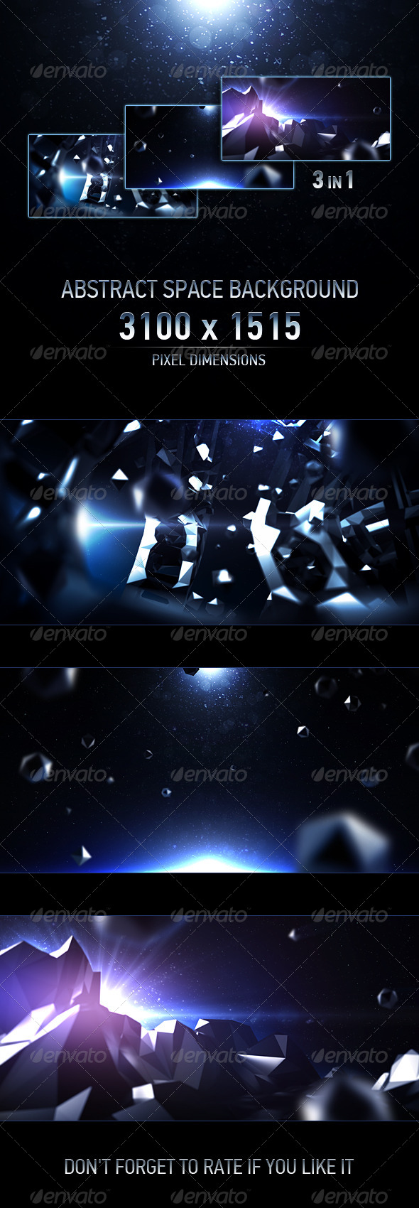Abstract Space Background - Abstract Backgrounds