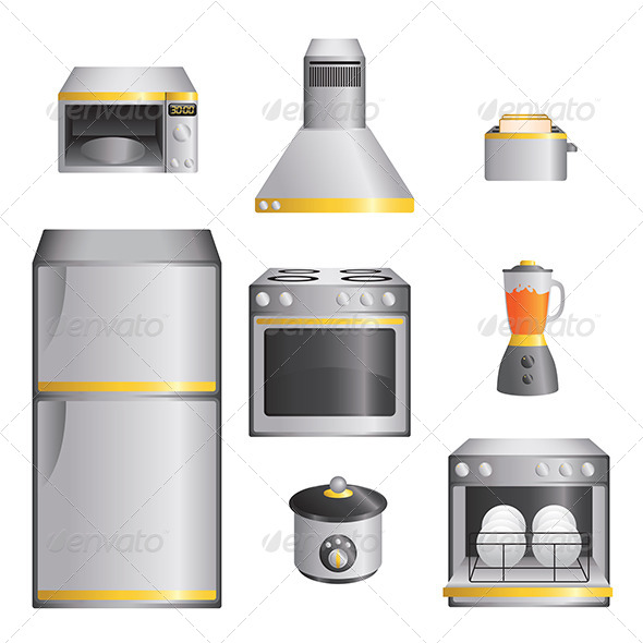 Kitchen Appliances - Objects Vectors