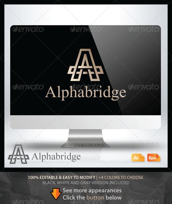 Alpha Bridge - Letters Logo Templates