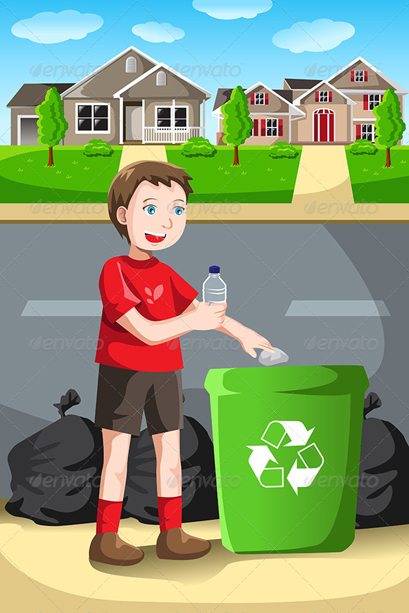 Recycling Kid - People Characters