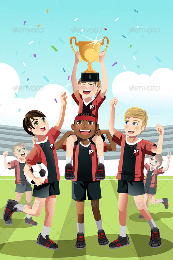 Soccer Team Winning - Sports/Activity Conceptual