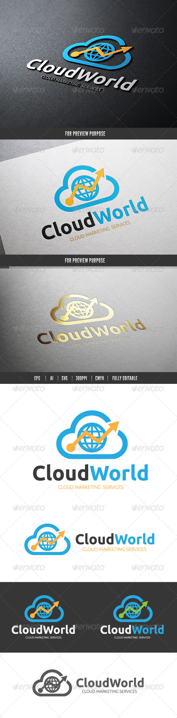 Cloud Marketing World - Nature Logo Templates