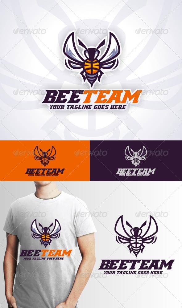 Bee Team Logo Template - Animals Logo Templates