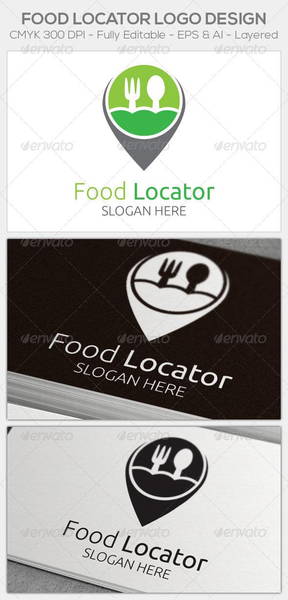 Food Locator - Food Logo Templates