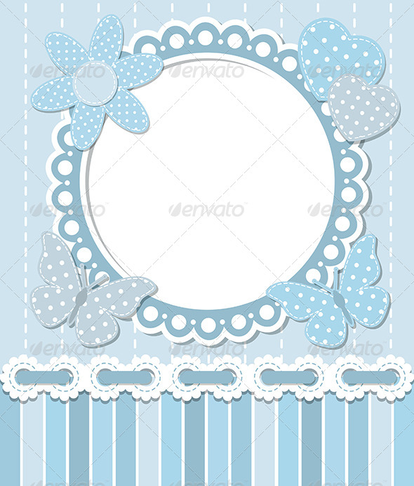Scrapbook Blue Frame - Decorative Symbols Decorative