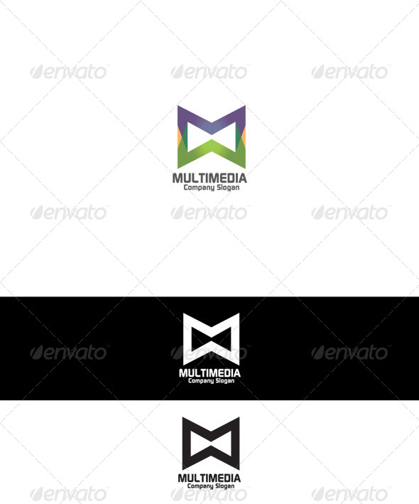 Multimedia Logo - Letters Logo Templates