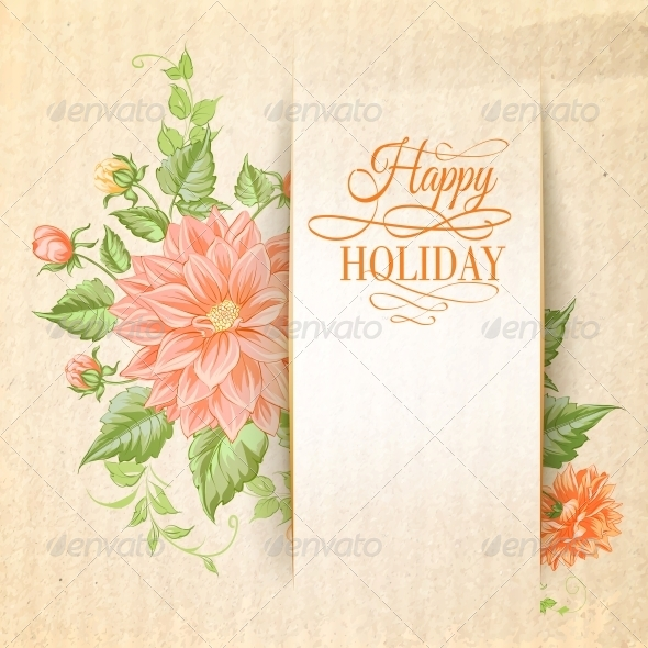 Chrysanthemum Holiday Card. - Flowers & Plants Nature