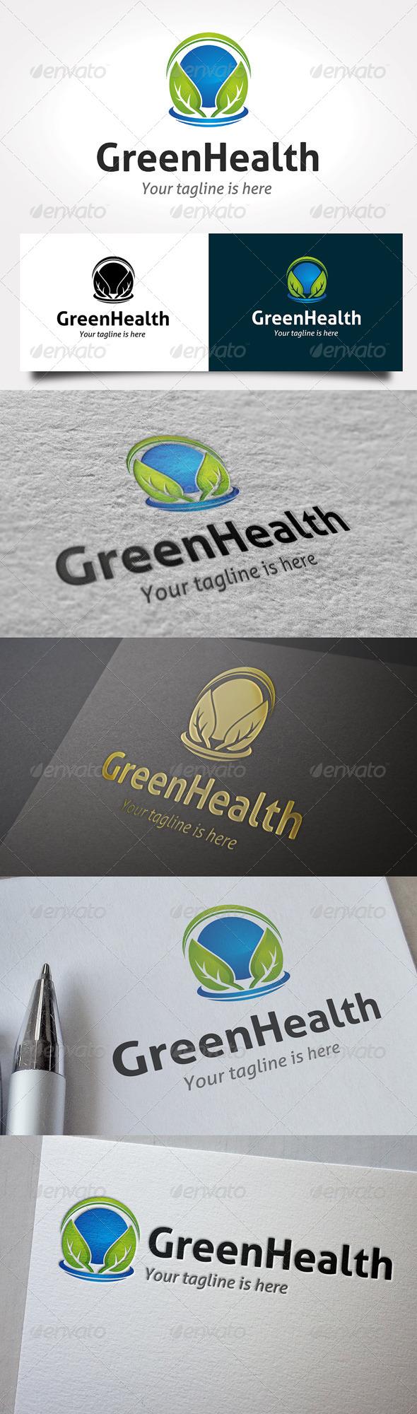 Green Health Logo - Nature Logo Templates