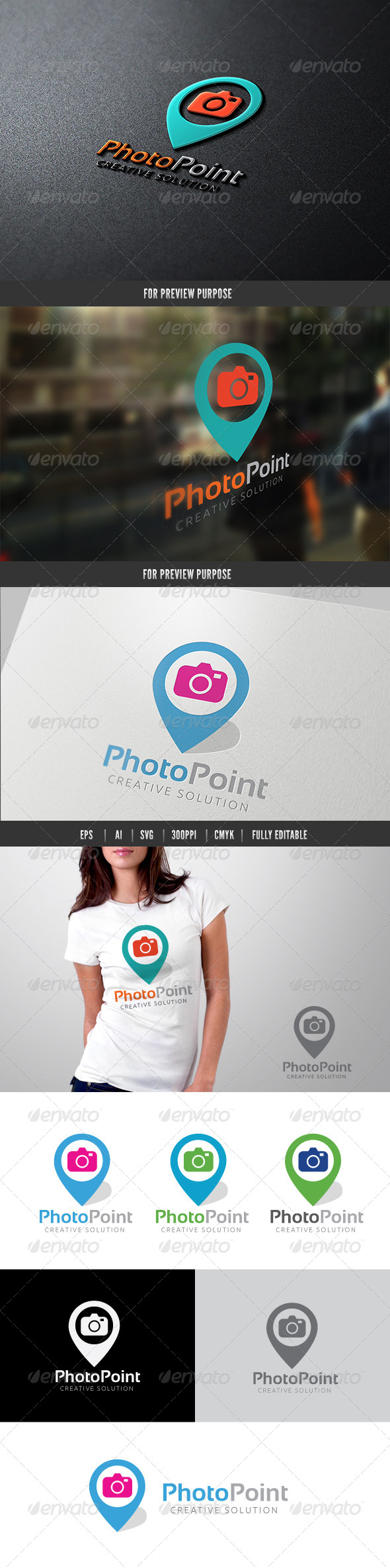 Photo Point - Symbols Logo Templates