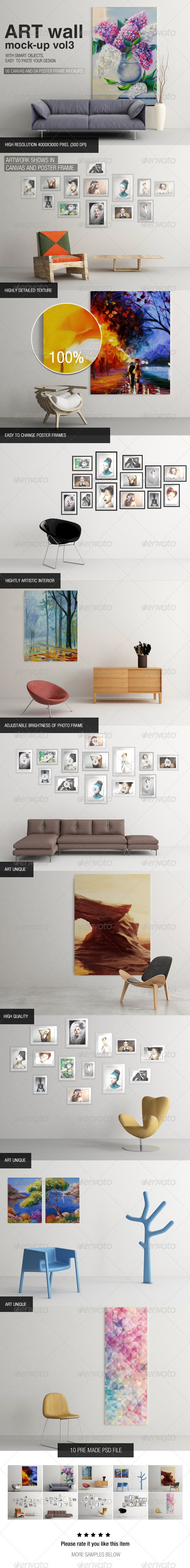 Art Wall Mock-up Vol.3 - Miscellaneous Displays