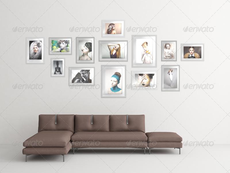 Art Wall Mock Up Vol3 By Wutip