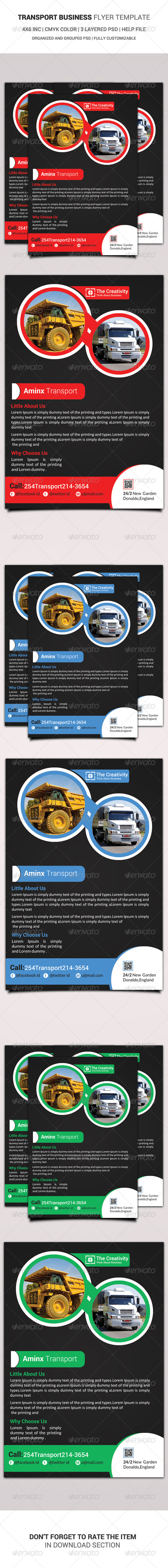 Transport Business Flyer Template - Miscellaneous Events