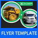 Transport Business Flyer Template - GraphicRiver Item for Sale