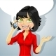 Brunette Girl Talking on the Phone  - GraphicRiver Item for Sale