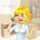 Office Girl Talking on the Phone  - GraphicRiver Item for Sale