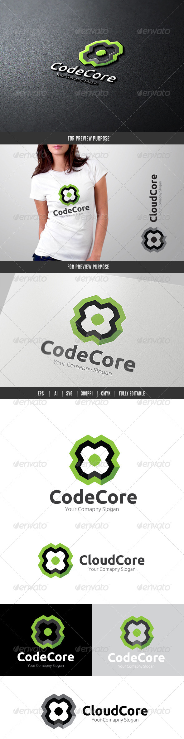 Code Core - 3d Abstract