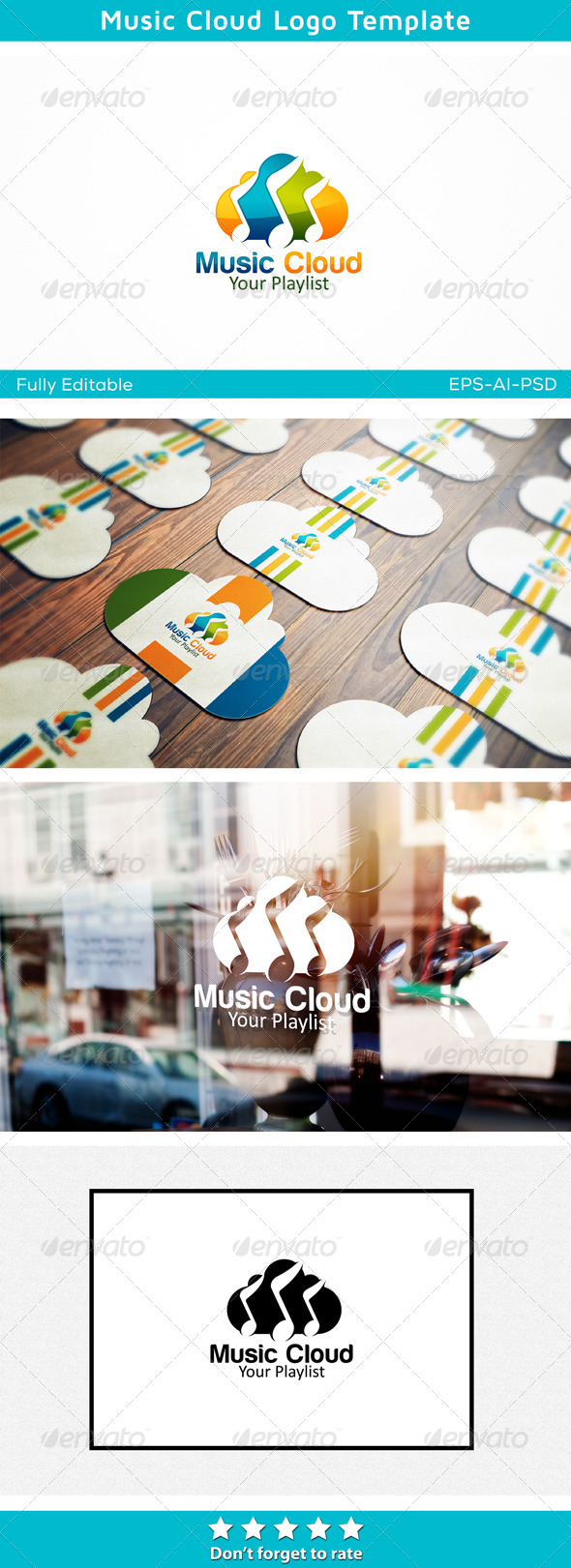 Music Cloud - Symbols Logo Templates