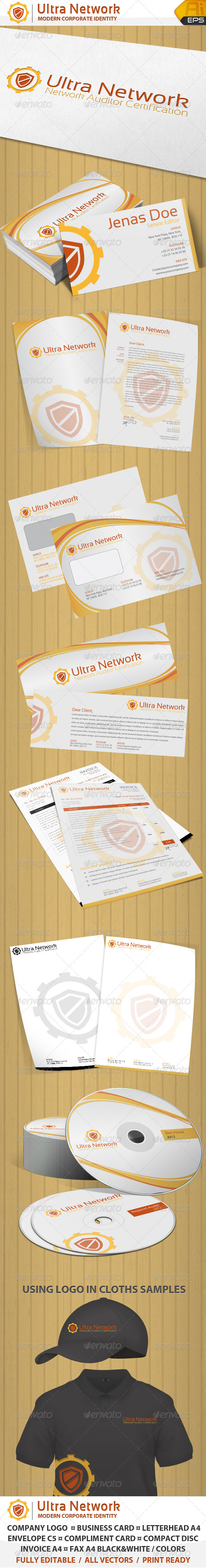 Network Auditor Corporate Identity and Logo  - Stationery Print Templates