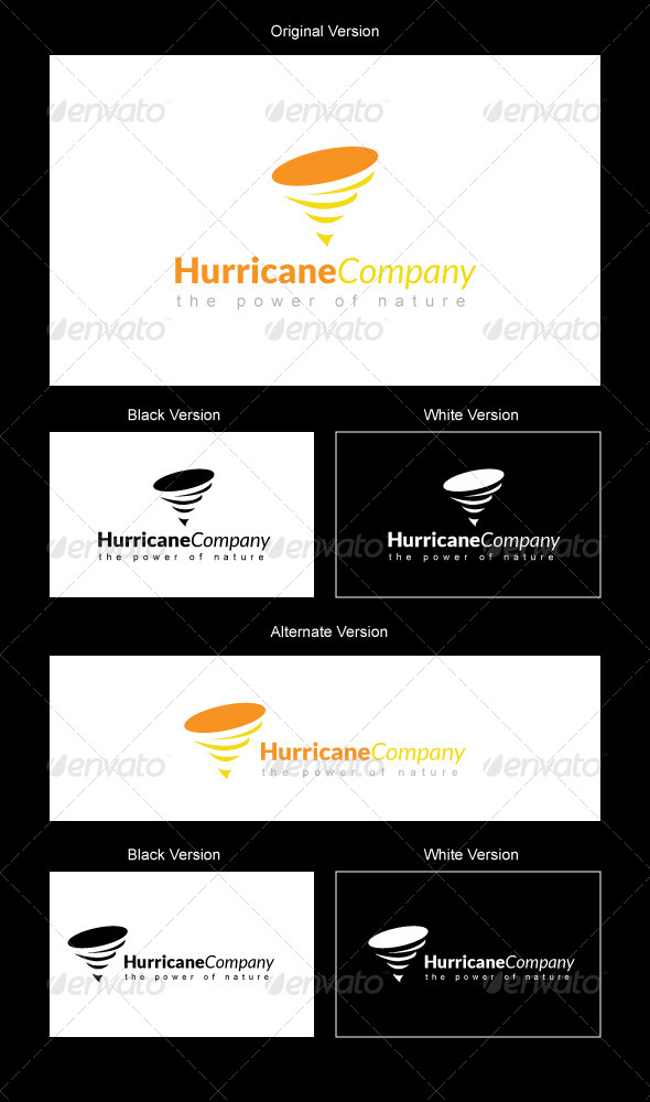 Hurricane Company Logo Design - Nature Logo Templates