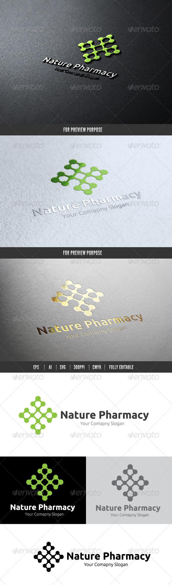 Nature Pharmacy - Nature Logo Templates