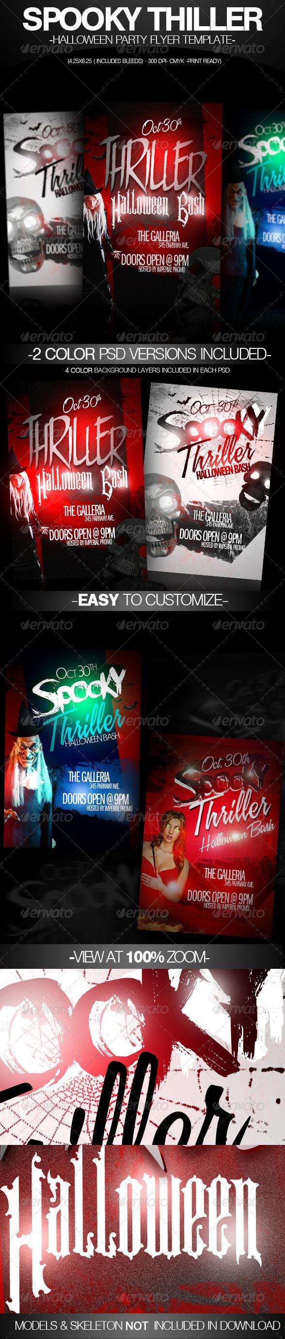 Spooky Thriller Halloween Flyer Template - Clubs & Parties Events