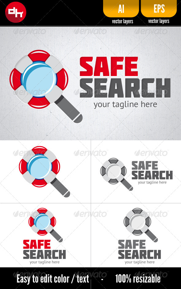Safe Search - Objects Logo Templates
