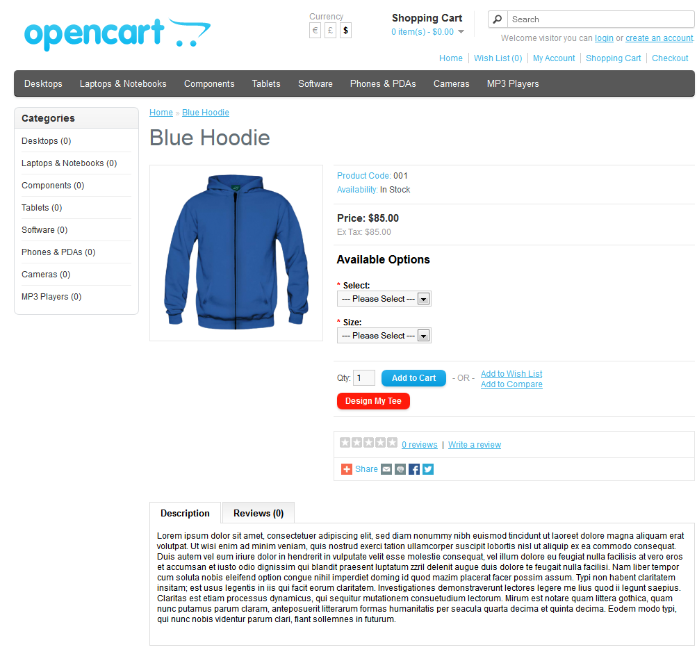 OpenCart Custom T-Shirt Design by wpproducts | CodeCanyon