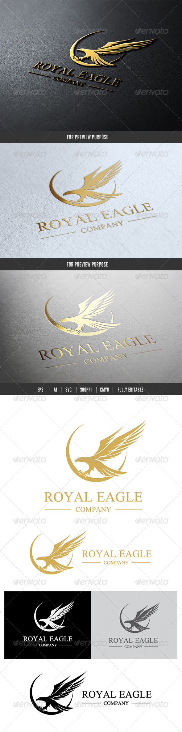 Eagle Royal Logo - Crests Logo Templates