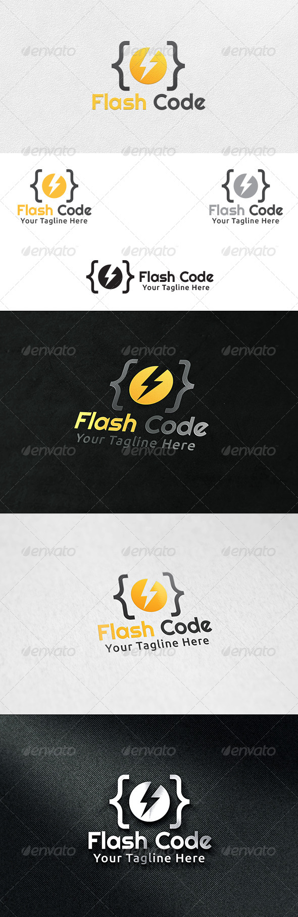 Code Flash - Logo Template - Symbols Logo Templates