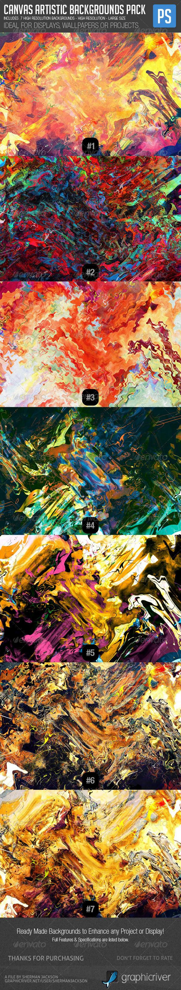 Canvas Artistic Patterns & Backgrounds Bundle - Patterns Backgrounds