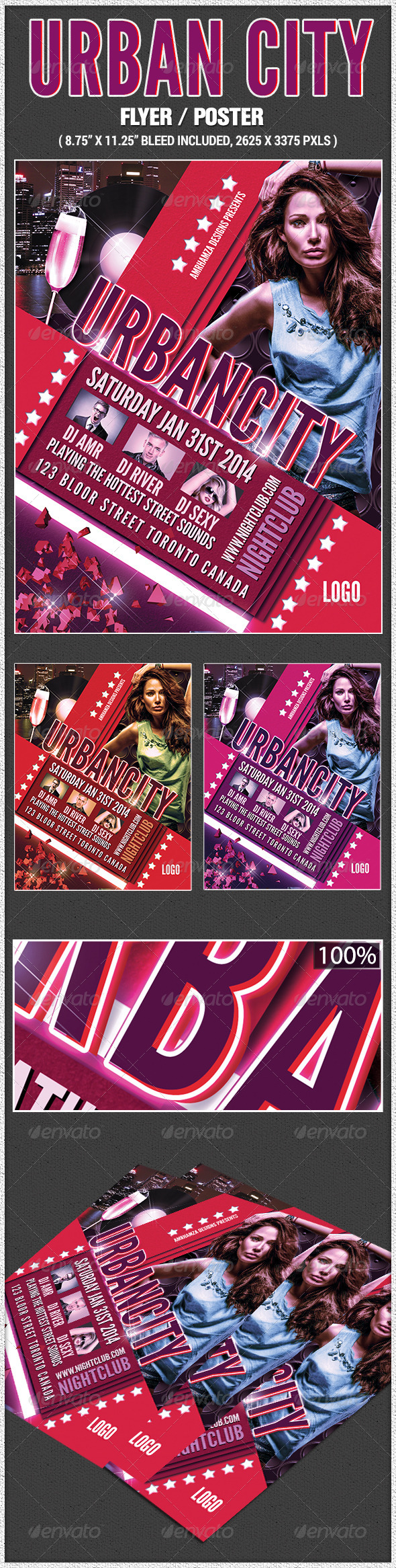 Urban City Poster - Clubs & Parties Events