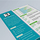 Simple Resume / CV Template 5 colors - GraphicRiver Item for Sale