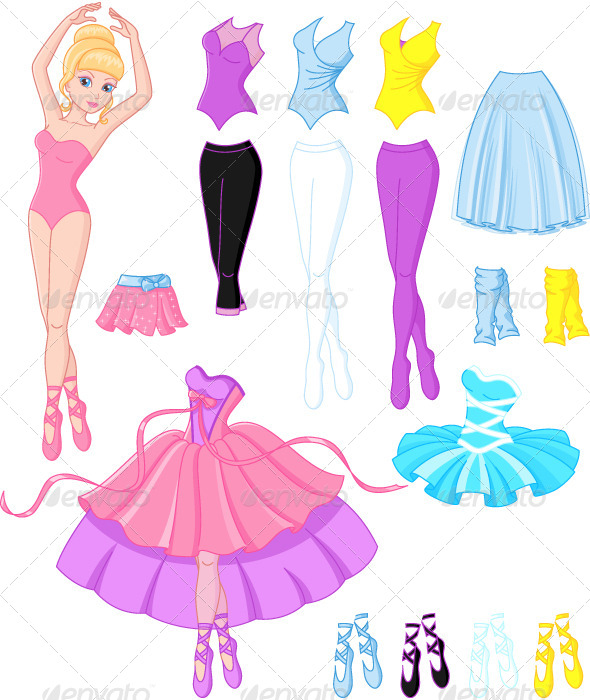 Ballerina Dresses - People Characters