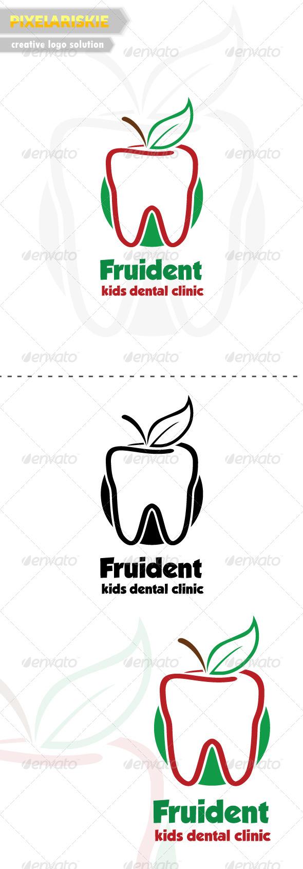 Fruident Kids Dental Logo - Objects Logo Templates