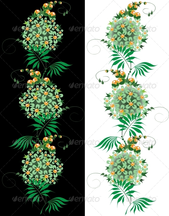 Ornament from Green and Yellow Flower - Flowers & Plants Nature