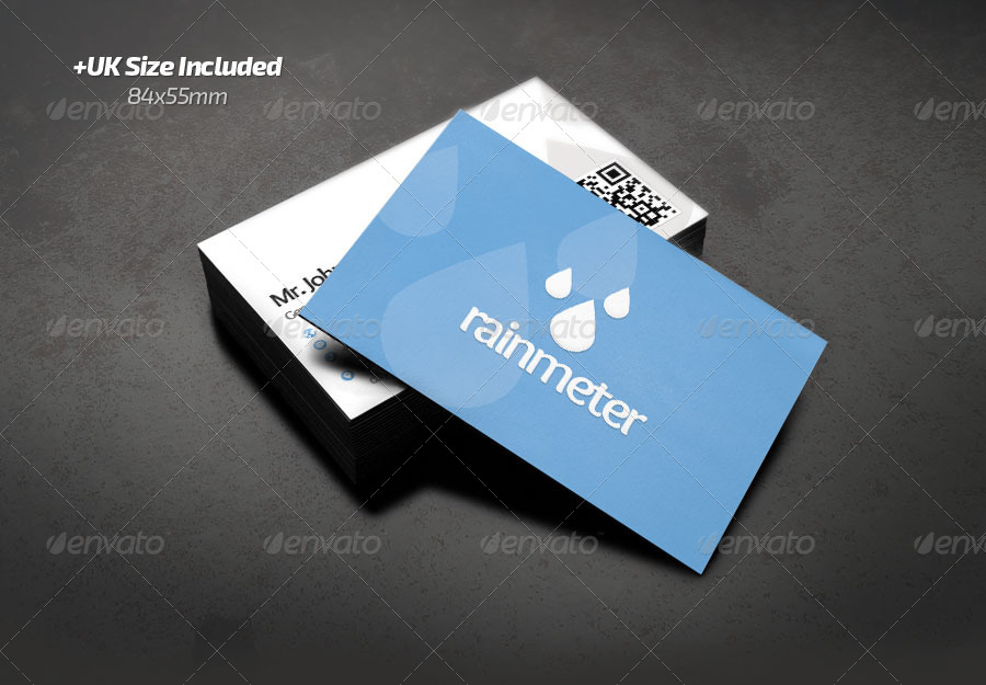 Rain Meter Business Card by RafaelOliveira2 | GraphicRiver